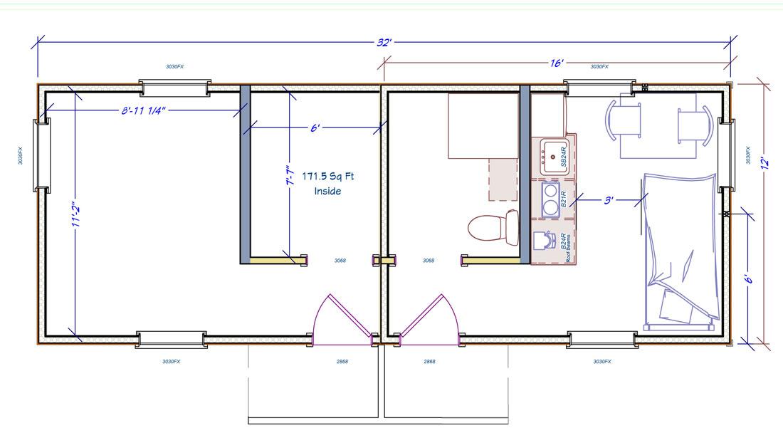 Veterans Village Housing Floor Plan